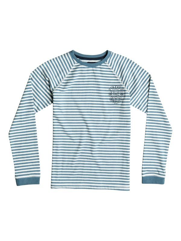 0 Fin Eat Stripe - Tee-Shirt à manches longues Bleu EQBKT03064 Quiksilver
