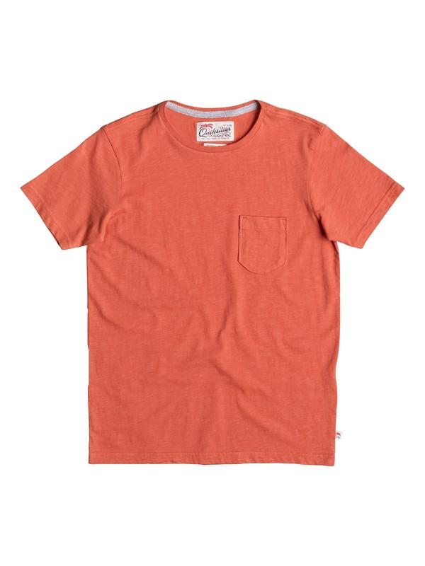 0 Slubstitution - T-Shirt Orange EQBKT03111 Quiksilver