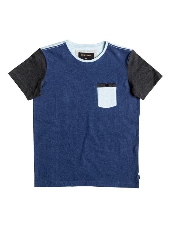 0 Baysic - Tee-Shirt à poche Bleu EQBKT03120 Quiksilver