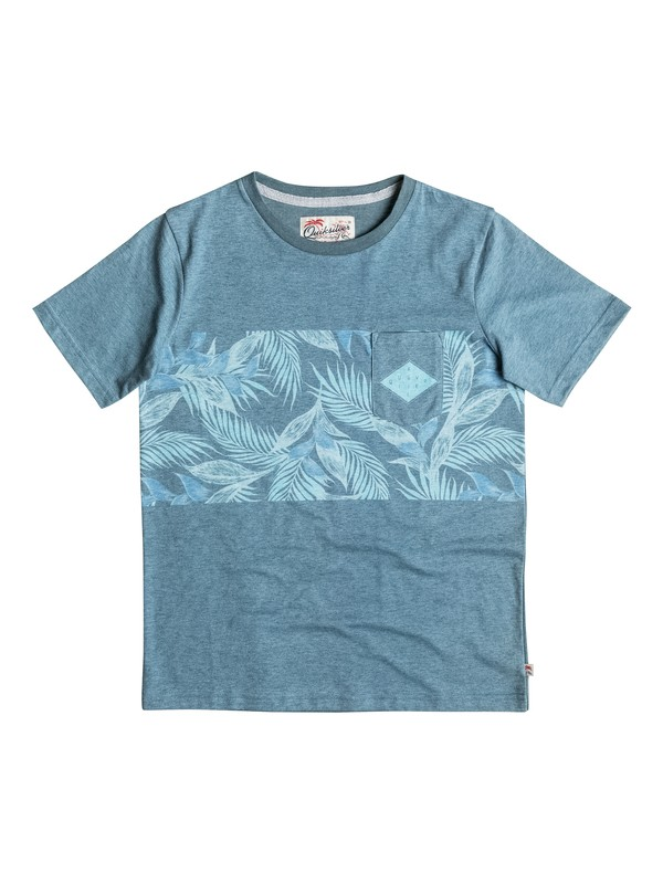 0 Faded Time - Tee-Shirt à poche Bleu EQBKT03124 Quiksilver