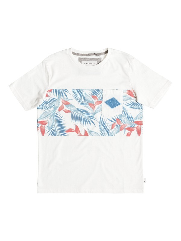 0 Faded Time - Tee-Shirt à poche Blanc EQBKT03124 Quiksilver