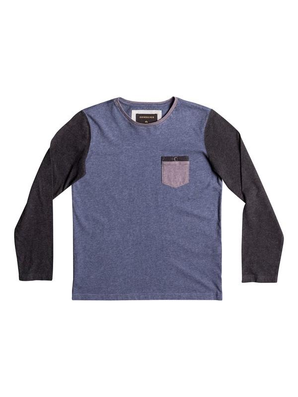 0 Baysic - T Shirt à manches longues Bleu EQBKT03136 Quiksilver