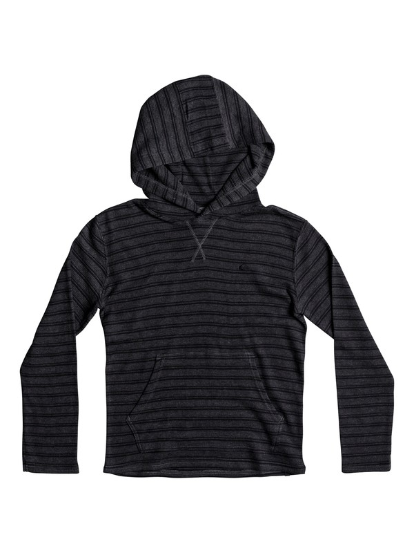 0 Boy's 8-16 Ocean Surface Hooded Long Sleeve Top Black EQBKT03159 Quiksilver