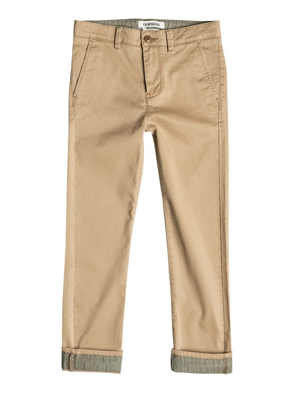 0 Krandy Straight Fit Block - Pantalon chino Marron EQBNP03043 Quiksilver