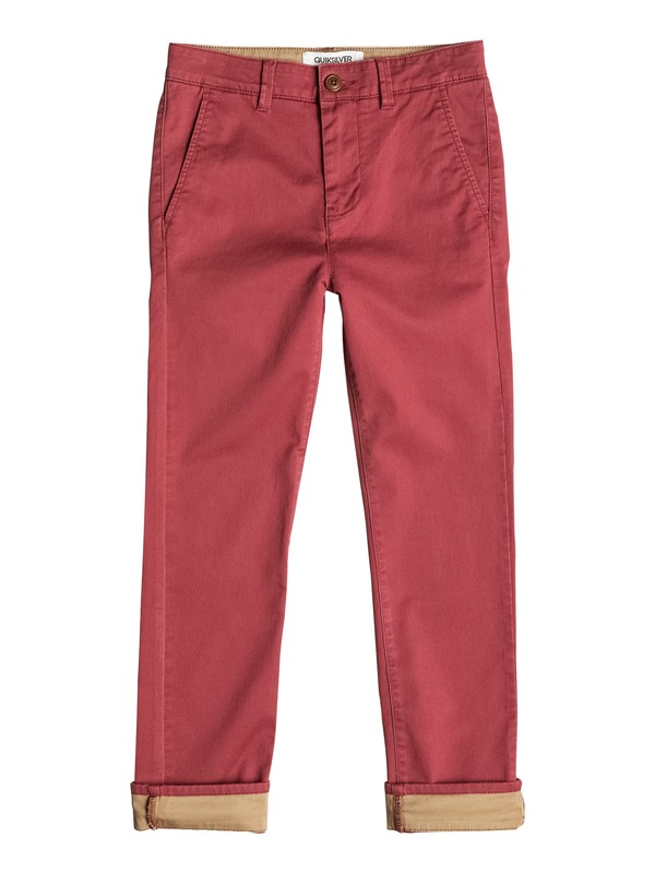 0 Krandy Straight Fit Block - Pantalon chino Rouge EQBNP03043 Quiksilver