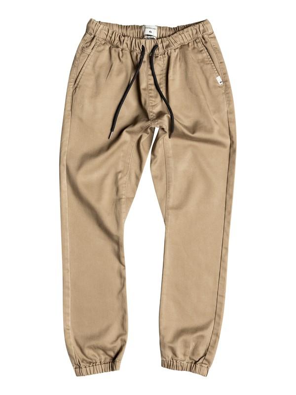 0 Fonic - Pantalon Coupe Jogger En Sergé Beige EQBNP03047 Quiksilver