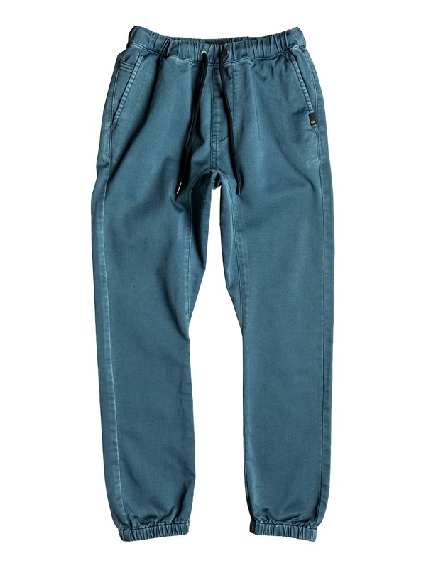 0 Fonic - Pantalon de jogging en sergé Bleu EQBNP03056 Quiksilver