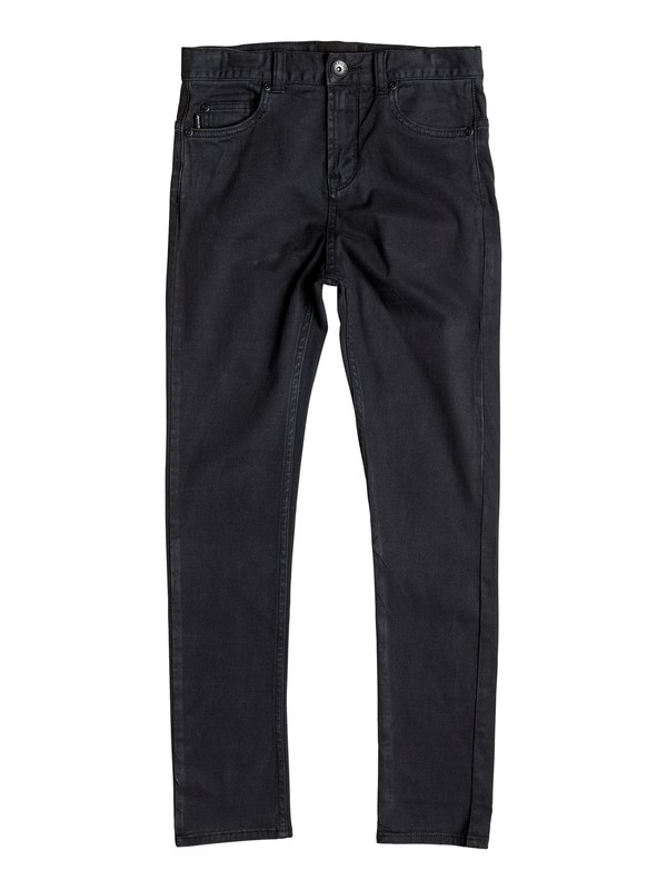 0 Low Bridge - Tapered Trousers Black EQBNP03058 Quiksilver