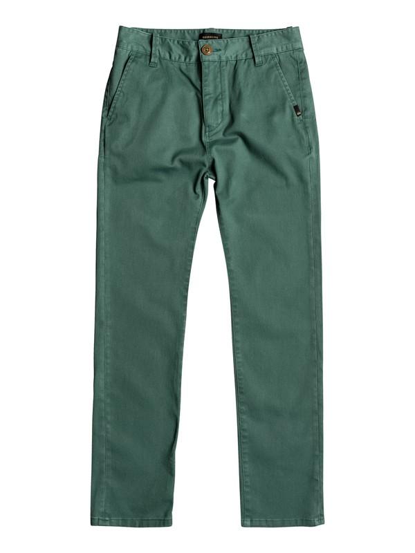 0 Krandy - Pantalon chino Vert EQBNP03062 Quiksilver