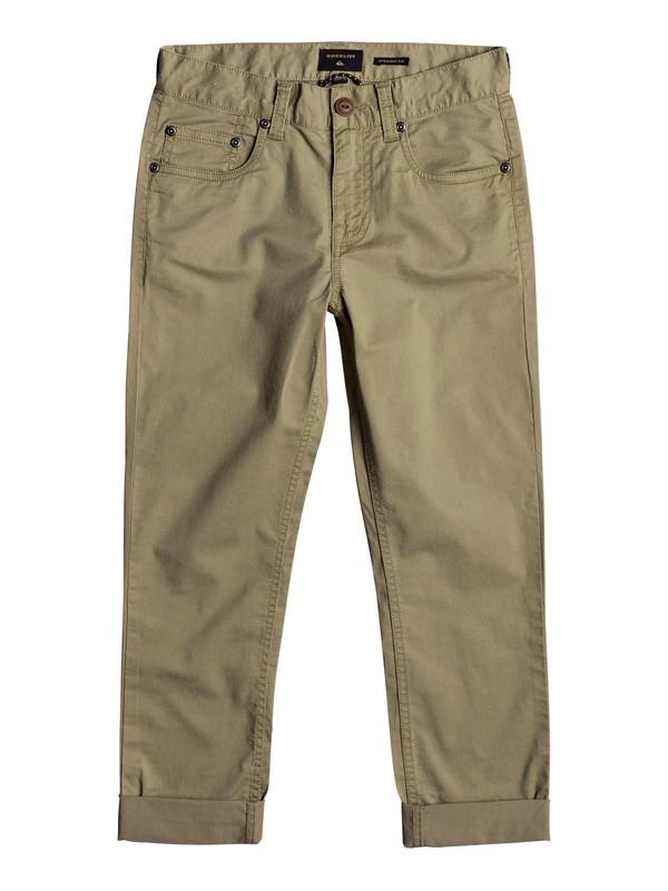 0 Midnight Ankle - Pantalones de Corte Recto Beige EQBNP03063 Quiksilver