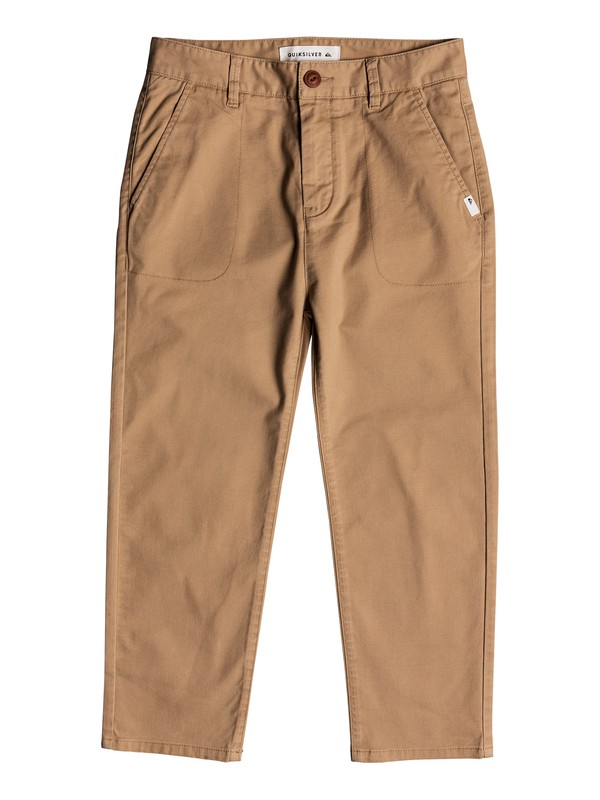 0 Omine - Ankle Length Trousers Brown EQBNP03069 Quiksilver