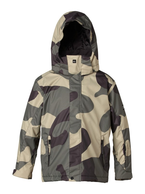 0 Mission 10K Youth Print Jacket  EQBTJ00013 Quiksilver