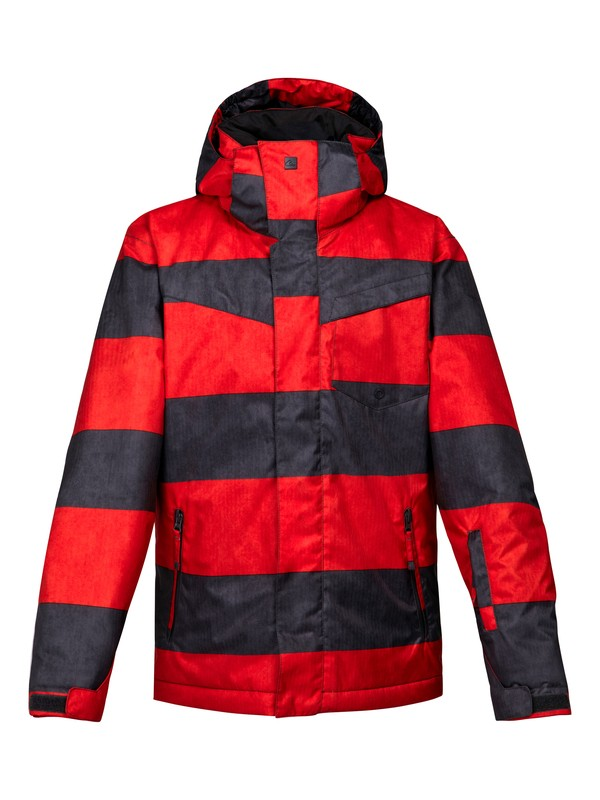0 Mission Printed 10K Youth Jacket Red EQBTJ00024 Quiksilver