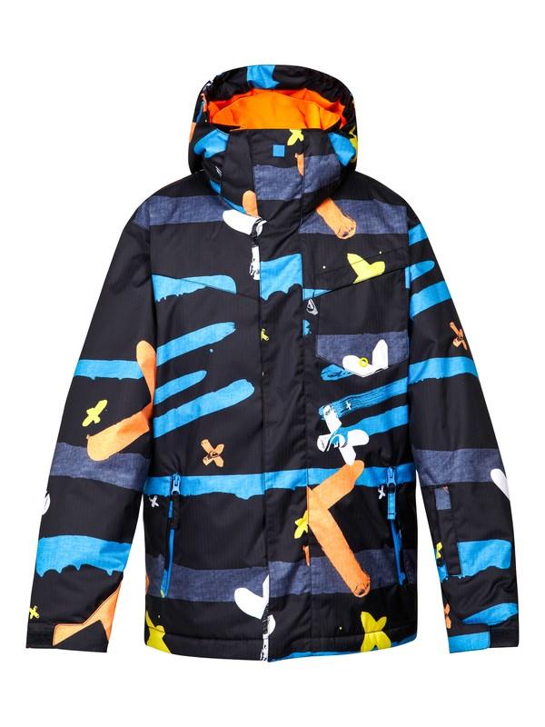0 Mission Printed 10K Youth Jacket Black EQBTJ00024 Quiksilver