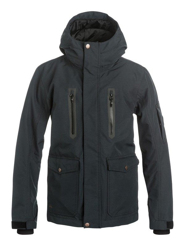 0 Boys 8-16 Dark And Stormy Snow Jacket  EQBTJ03031 Quiksilver