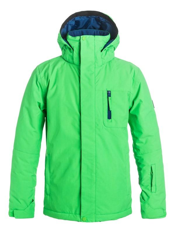 0 Mission Solid - Snow Jacket Green EQBTJ03036 Quiksilver
