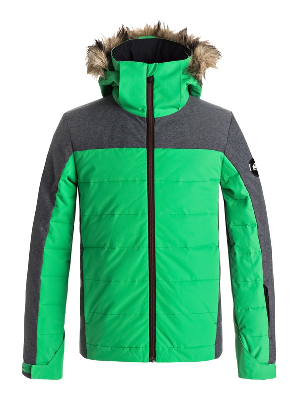 0 The Edge - Snow Jacket Green EQBTJ03053 Quiksilver