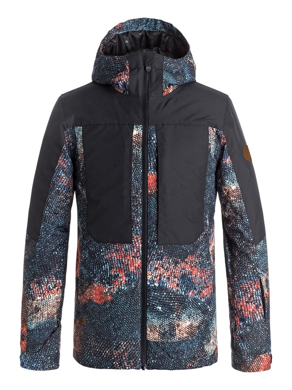 0 Boy's 8-16 Travis Rice Ambition Snow Jacket Orange EQBTJ03054 Quiksilver