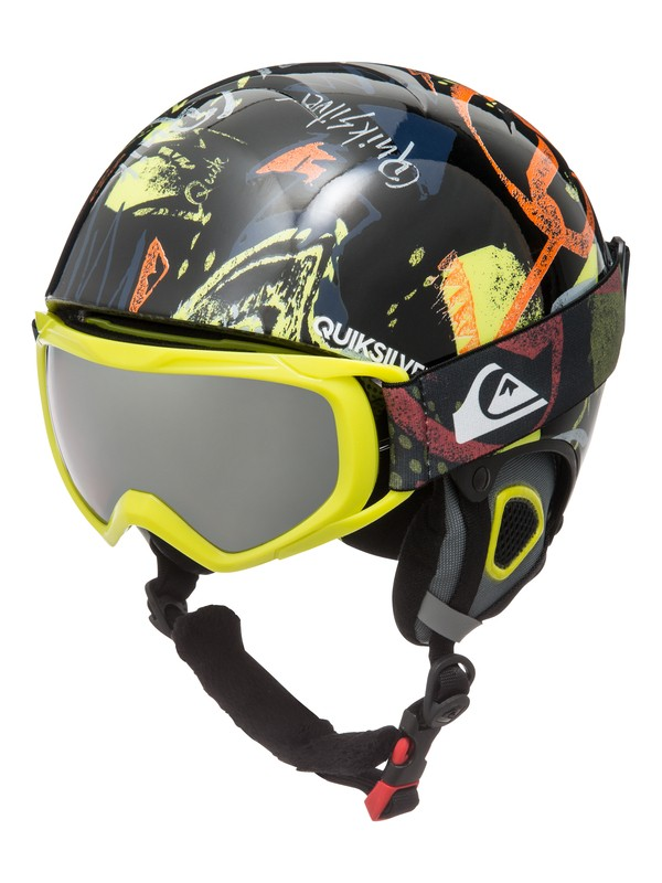 0 Boy's 8-16 The Game Helmet and Goggle Pack Black EQBTL03001 Quiksilver