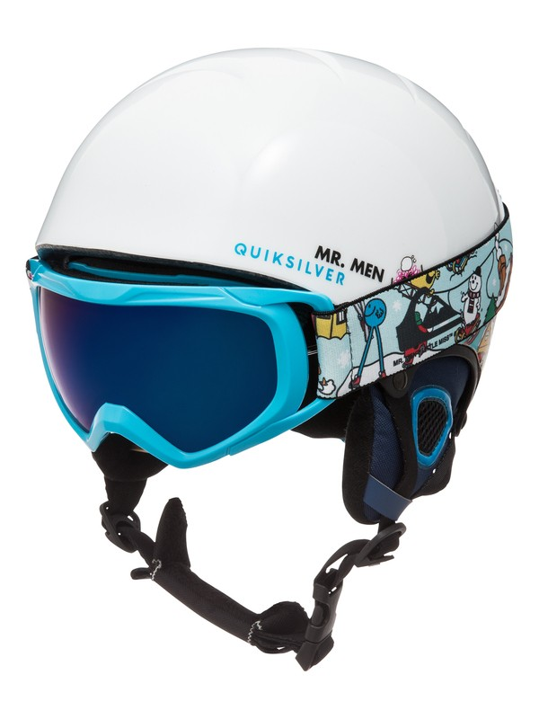 0 The Game - Helm und Goggle Set Weiss EQBTL03001 Quiksilver
