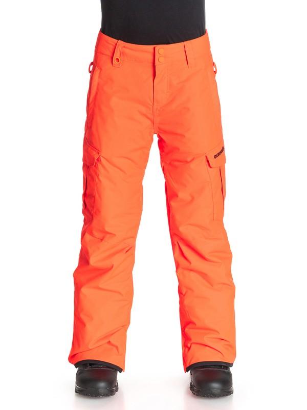 0 Mission - Pantalon de snow Orange EQBTP03002 Quiksilver