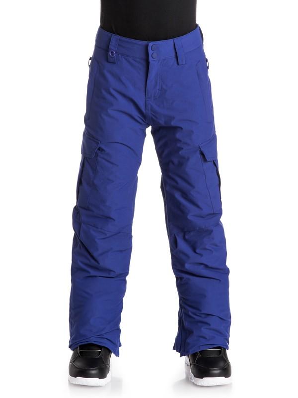 0 Porter - Pantalon de snow Bleu EQBTP03007 Quiksilver