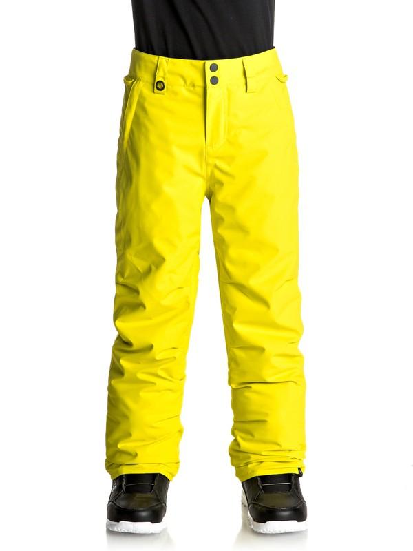 0 Boy's 8-16 Estate Snow Pants Green EQBTP03013 Quiksilver