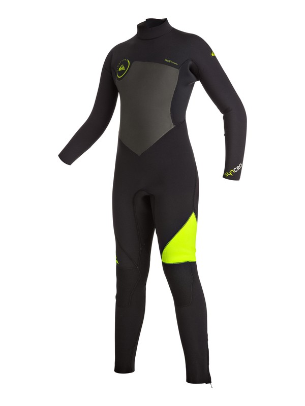 0 Boy's Syncro 5/4/3mm Back Zip Full Wetsuit  EQBW103009 Quiksilver