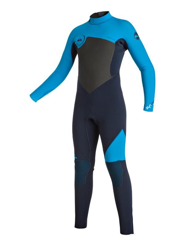 0 Syncro 3/2mm - Combinaison de surf intégrale zip dans le dos Bleu EQBW103013 Quiksilver