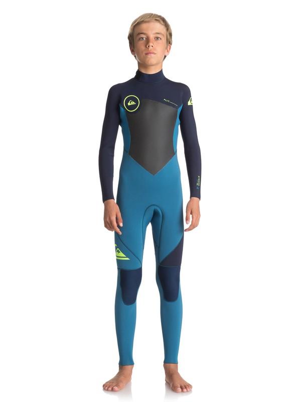 0 4/3mm Syncro Series - Combinaison de surf intégrale Bleu EQBW103027 Quiksilver