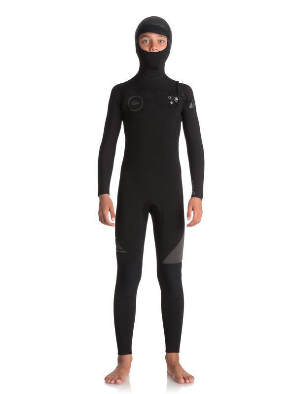 0 5/4/3 Syncro Series Chest Zip - Combinaison de surf intégrale à capuche Noir EQBW203001 Quiksilver