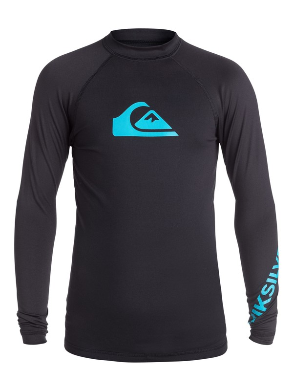 0 Boy's 8-16 All Time Long Sleeve Rashguard Black EQBWR03007 Quiksilver