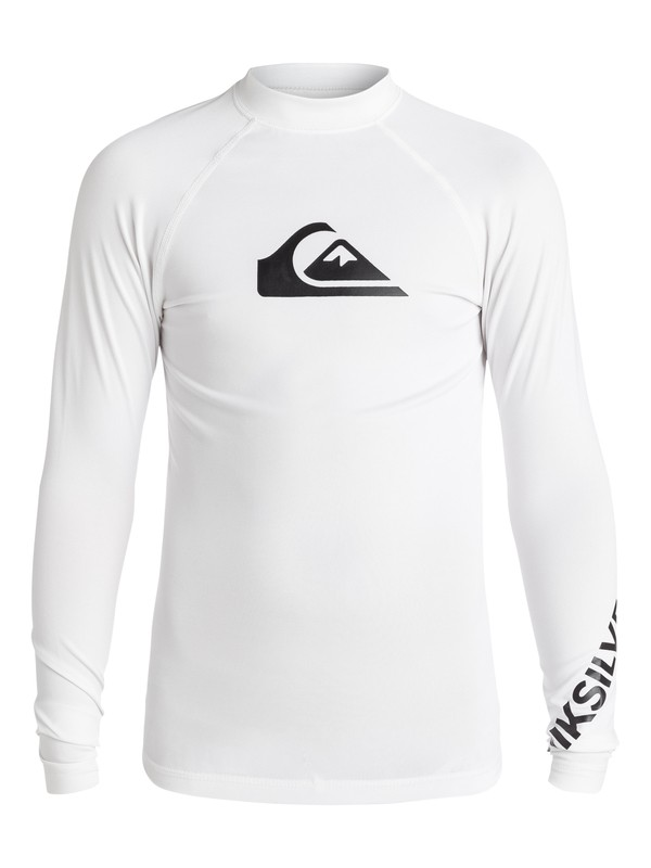 0 Boy's 8-16 All Time Long Sleeve Rashguard White EQBWR03007 Quiksilver