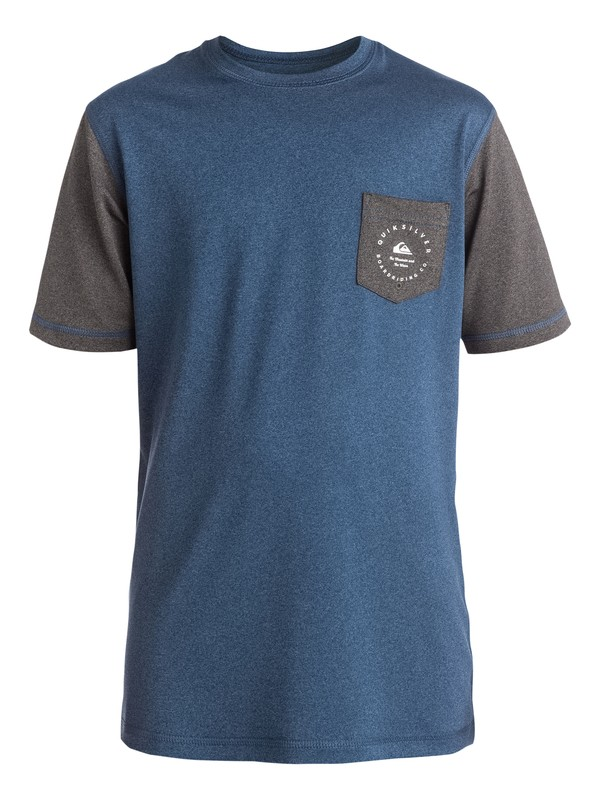 0 Badge - Surf tee avec poche Bleu EQBWR03018 Quiksilver