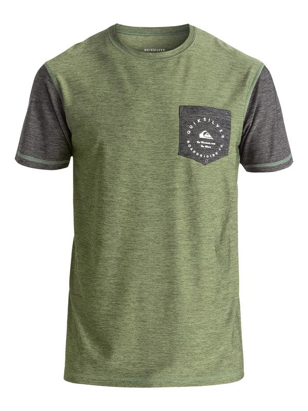 0 Badge - Surf tee avec poche Vert EQBWR03018 Quiksilver