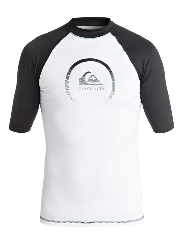 0 Boy's 8-16 Active Short Sleeve Rashguard White EQBWR03023 Quiksilver