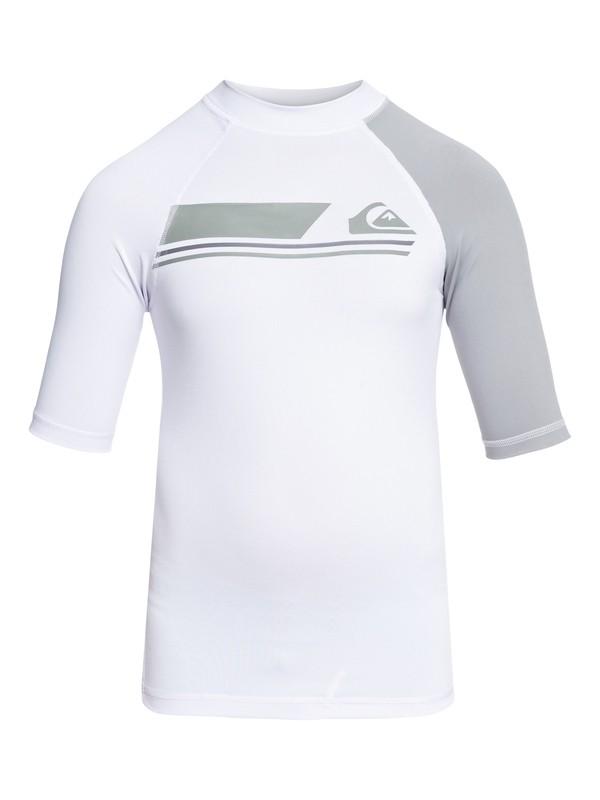 0 Boys 8 -16 Active Short Sleeve UPF 50 Rashguard White EQBWR03036 Quiksilver