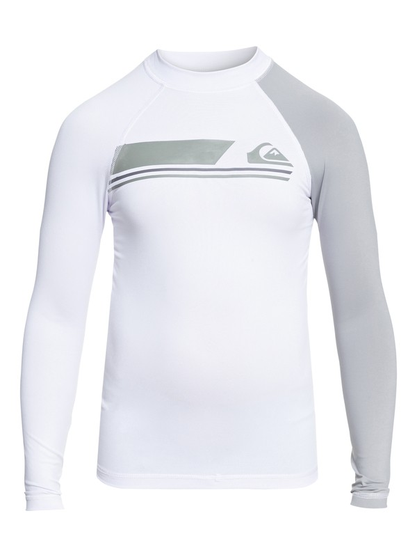 0 Boys 8 -16 Active Long Sleeve UPF 50 Rashguard White EQBWR03037 Quiksilver