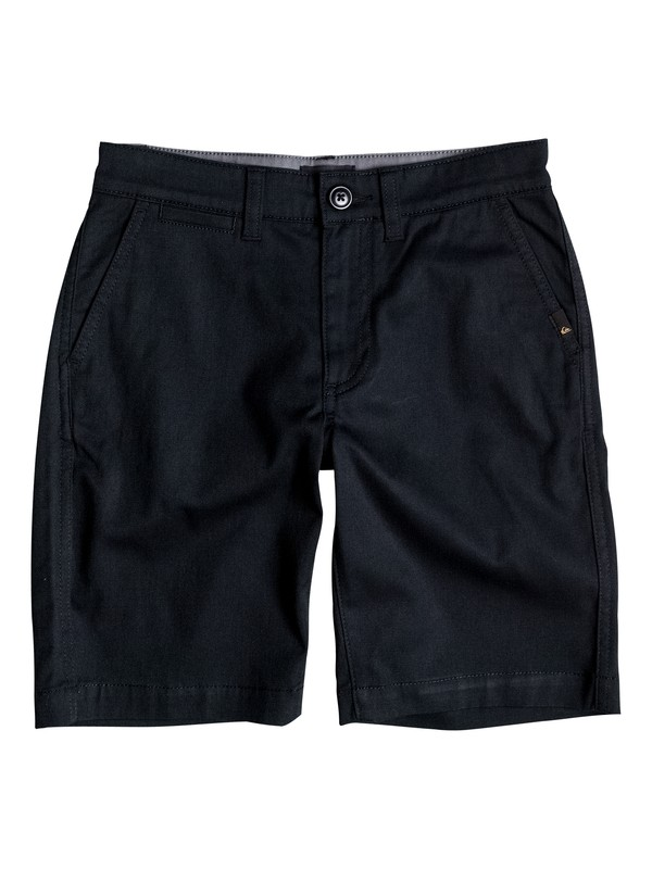0 Boy's 8-16 Everyday Union Stretch Chino Shorts Black EQBWS03125 Quiksilver