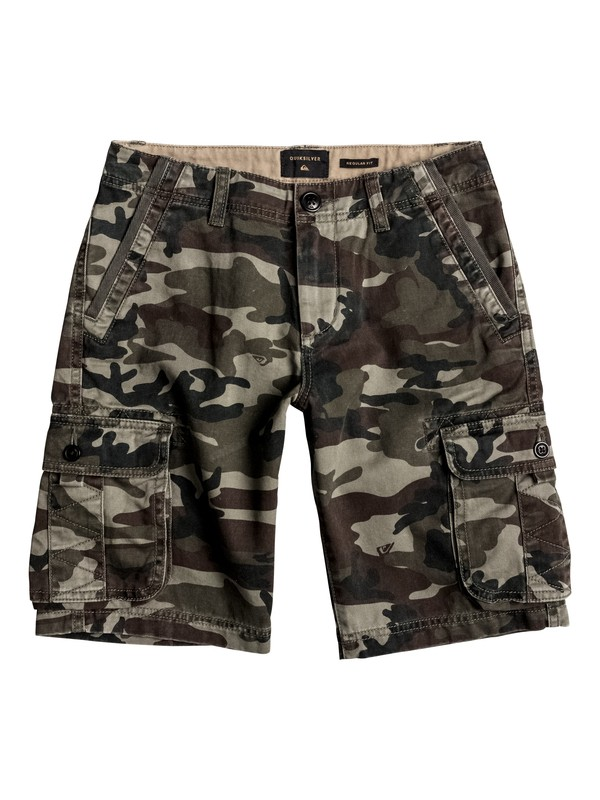 0 Boy's 8-16 Everyday Deluxe Cargo Shorts Green EQBWS03126 Quiksilver