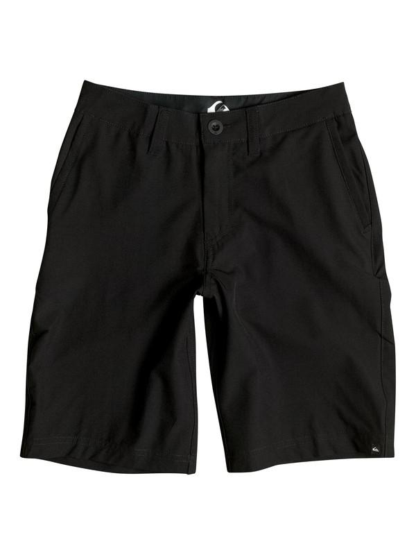 "0 Boy's 8-16 Solid 19"" Amphibian Shorts Black EQBWS03132 Quiksilver"