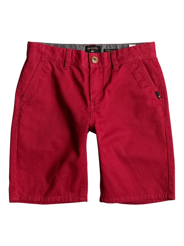 0 Everyday - Short en sergé Rouge EQBWS03156 Quiksilver
