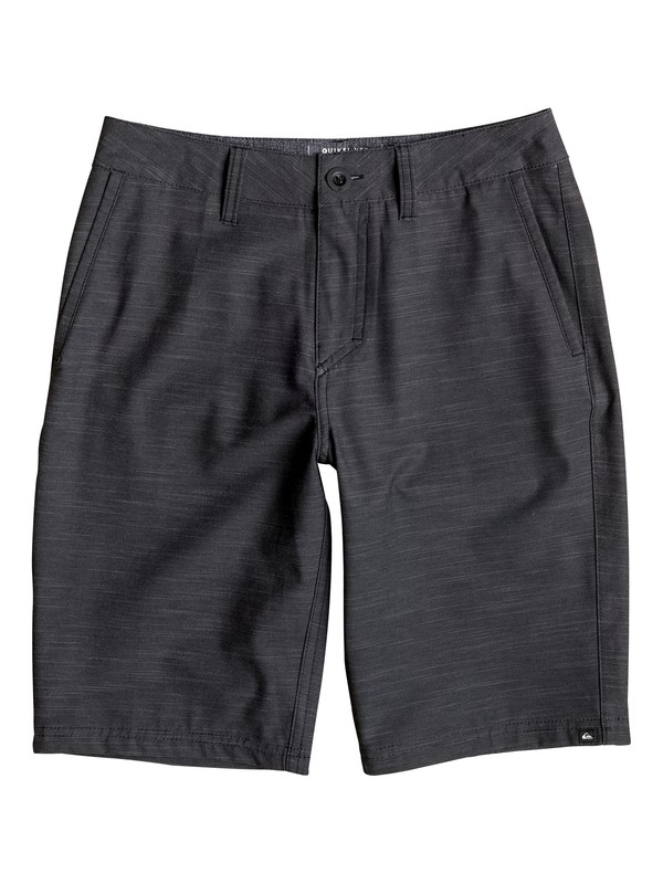 "0 Boy's 8-16 Slubbed Amphibian 19"" Amphibian Shorts  EQBWS03177 Quiksilver"
