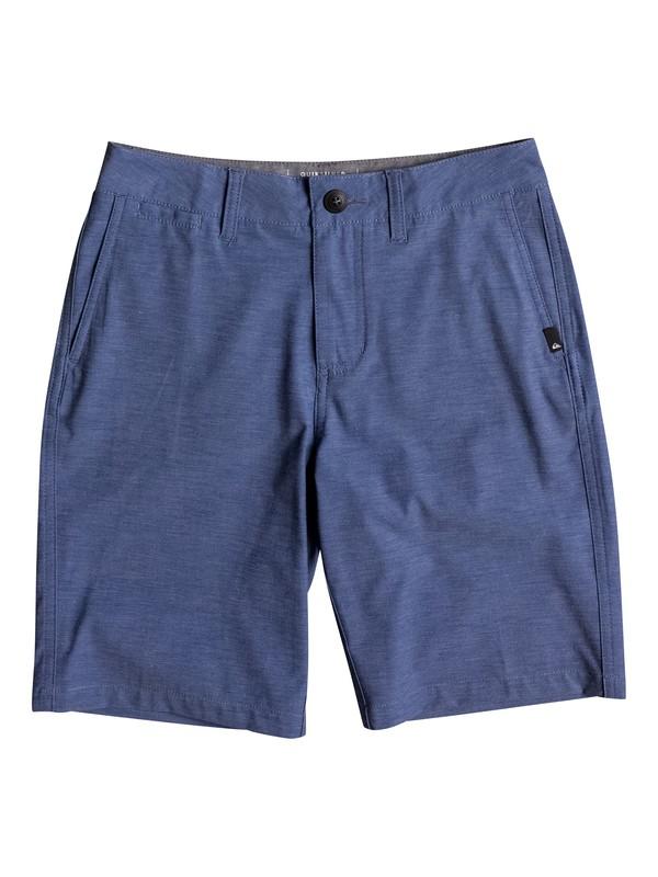 "0 Boy's 8-16 Union Heather Amphibian 18"" Amphibian Shorts Blue EQBWS03199 Quiksilver"