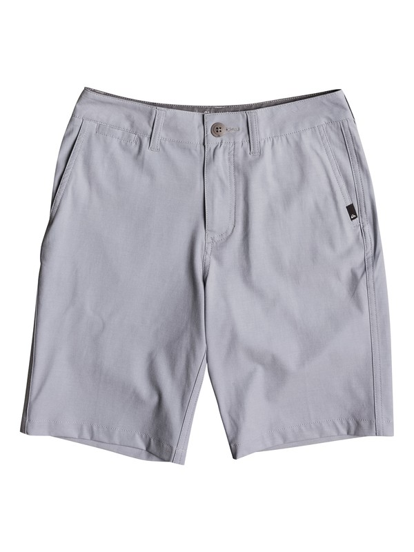 "0 Boy's 8-16 Union Heather Amphibian 18"" Amphibian Shorts Grey EQBWS03199 Quiksilver"