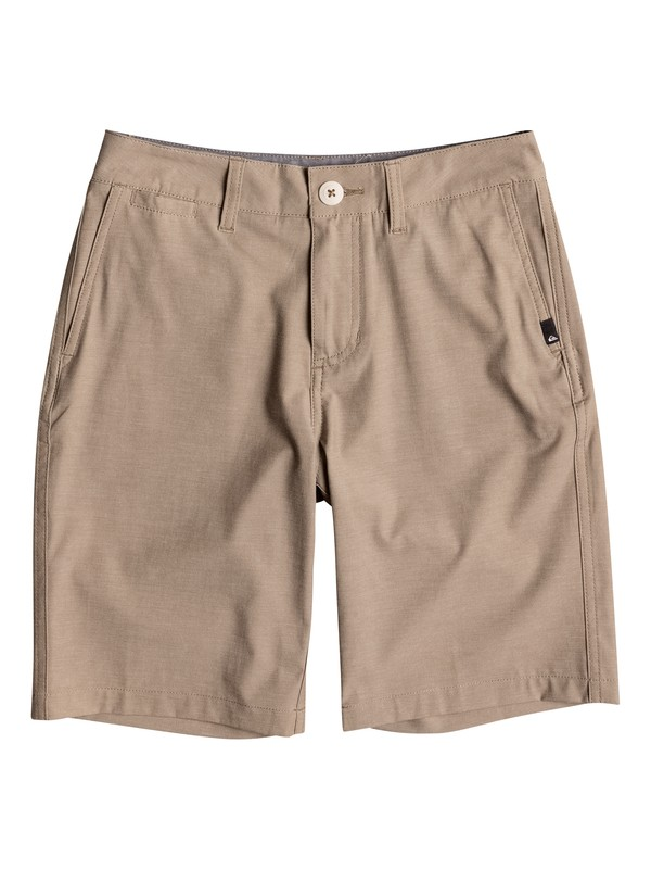 "0 Boy's 8-16 Union Heather Amphibian 18"" Amphibian Shorts Beige EQBWS03199 Quiksilver"
