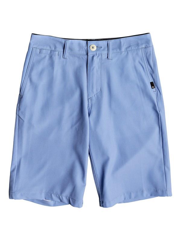 "0 Boys 8 -16 Union Pinstripe 19"" Amphibian Shorts Blue EQBWS03234 Quiksilver"