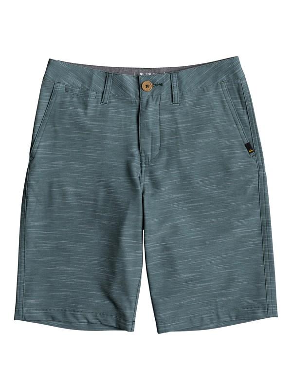"0 Boys 8 -16 Union Slub 19"" Amphibian Shorts Green EQBWS03240 Quiksilver"