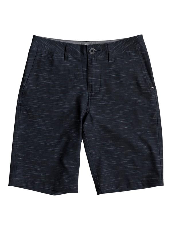 "0 Boys 8 -16 Union Slub 19"" Amphibian Shorts Black EQBWS03240 Quiksilver"