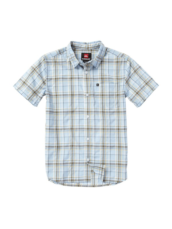 0 Boys 8-16 Engineer Pat Short Sleeve Shirt  EQBWT00007 Quiksilver